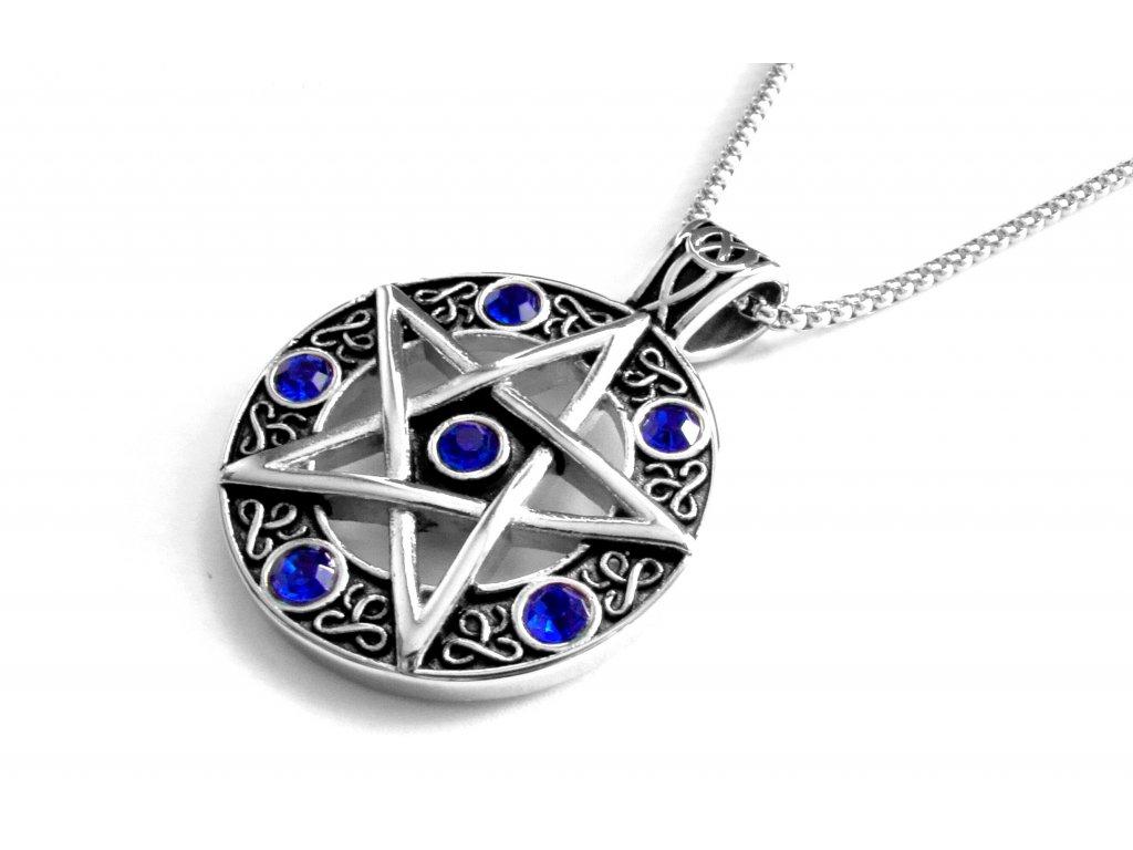 řetízek a přívěsek - náhrdelník - pentagram - 171038