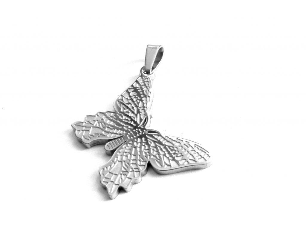 přívěsek - chirurgická ocel - motýl - 171040