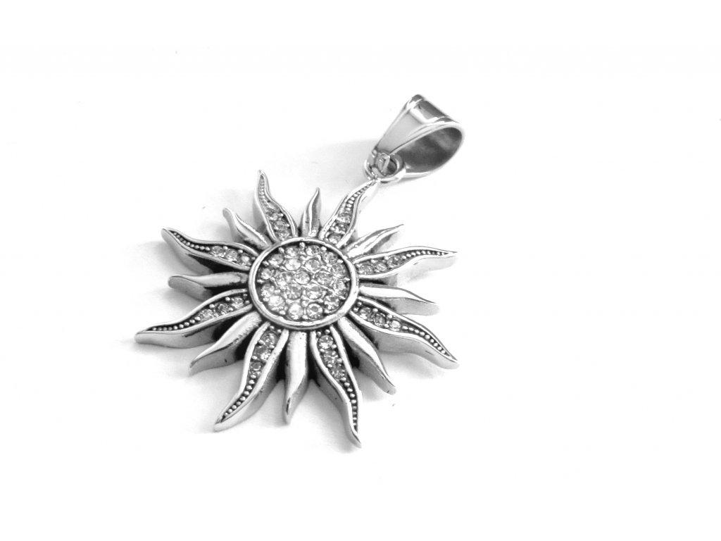 přívěsek - chirurgická ocel - slunce - 140128