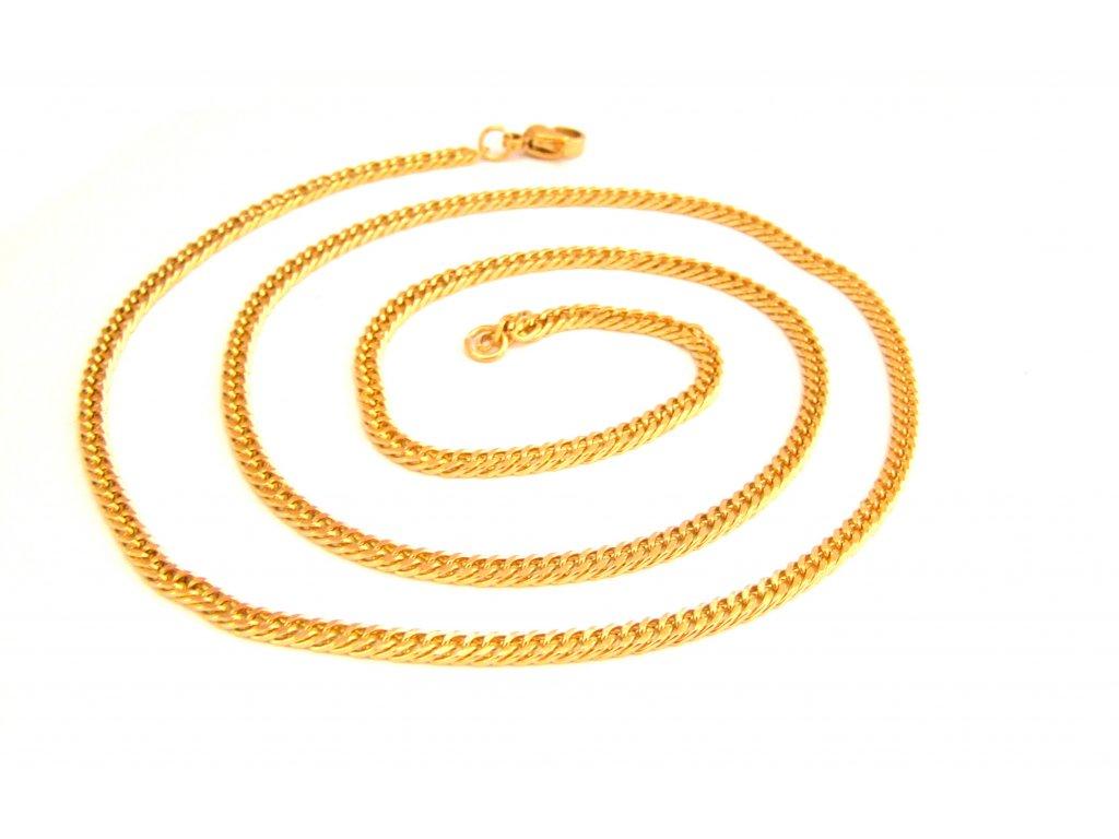 řetízek - náhrdelník - chirurgická ocel - gold - 150132