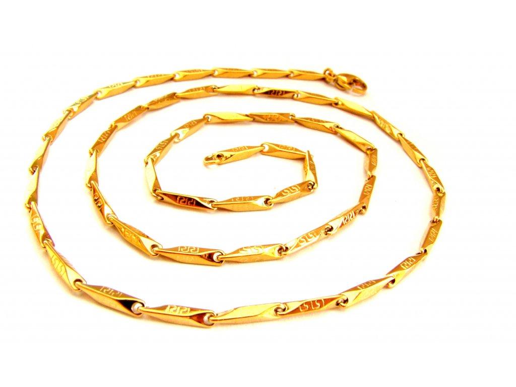 řetízek - chirurgická ocel - gold - 140926