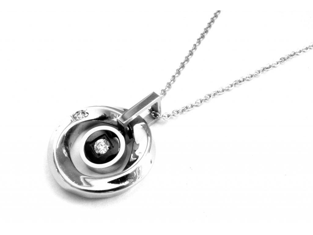 řetízek a přívěsek (náhrdelník) - chirurgická ocel - 160314