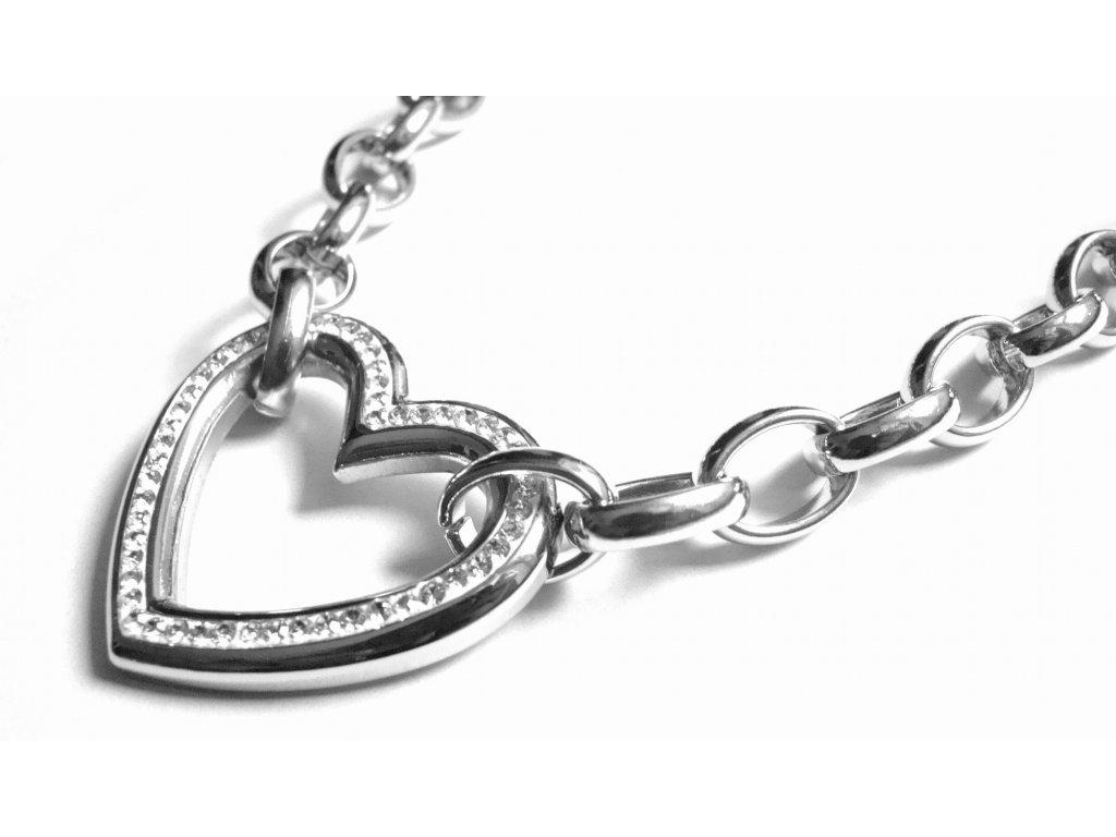 řetízek, náhrdelník - chirurgická ocel - dámský - 090478