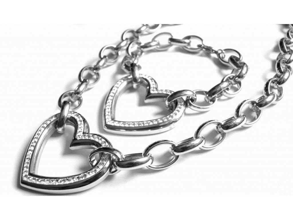souprava - řetízek (náhrdelník) a náramek - chirurgická ocel - 80001