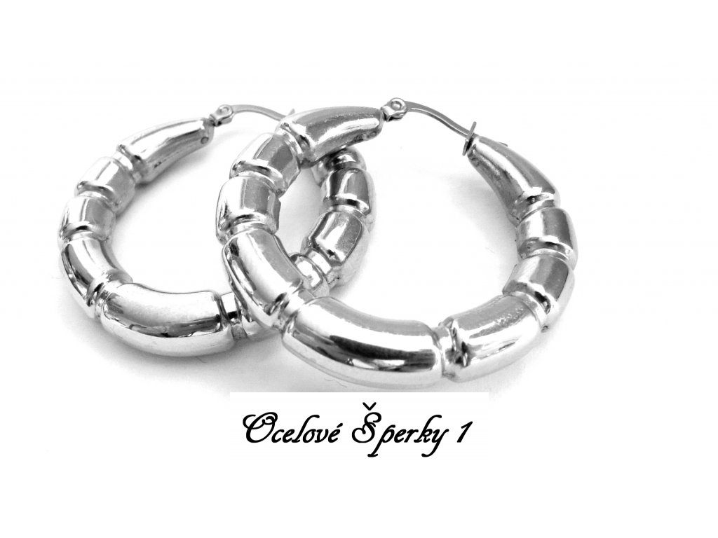 náušnice - chirurgická ocel - kruhy - 38 mm - 141123