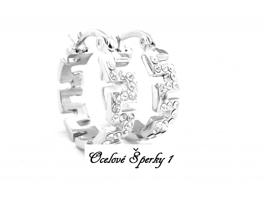 náušnice - chirurgická ocel - kruhy - 130105