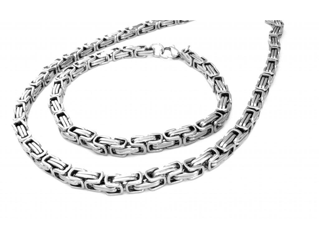souprava - náhrdelník a náramek - chirurgická ocel - 121116
