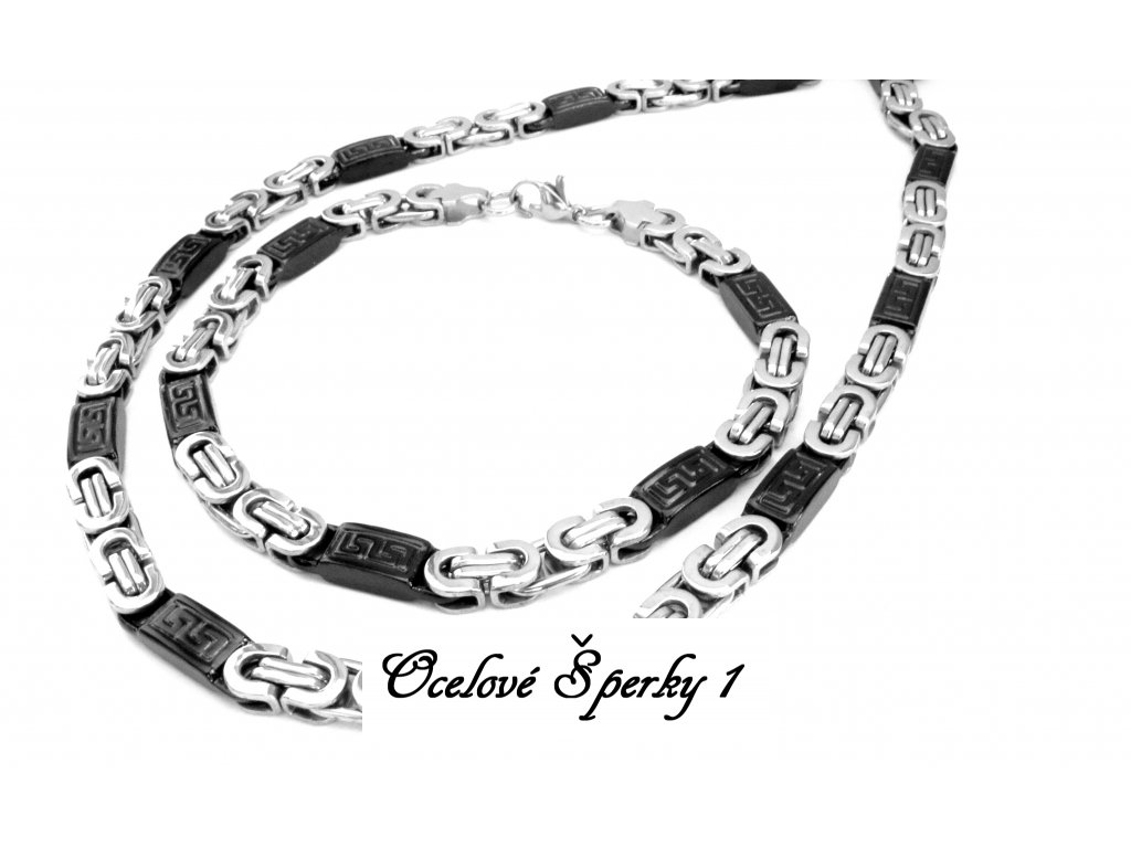 souprava - řetízek (náhrdelník) a náramek - chirurgická ocel - 081202