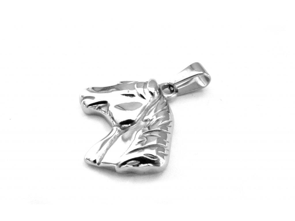 přívěsek - chirurgická ocel - kůň - 090416