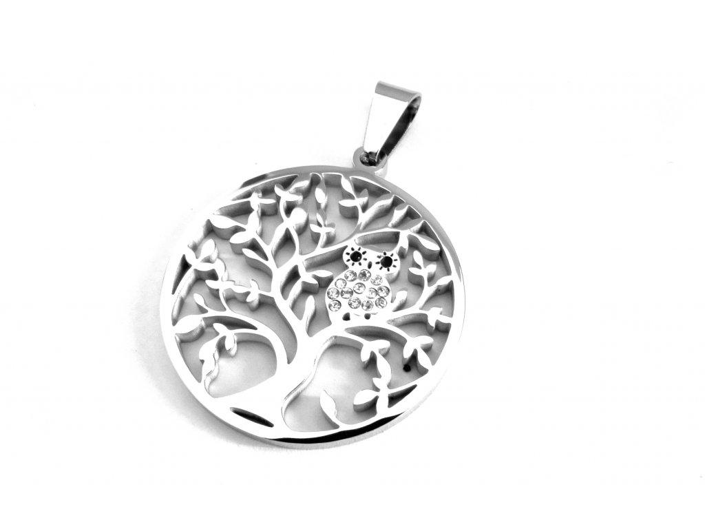 přívěsek - chirurgická ocel - strom života - 160215