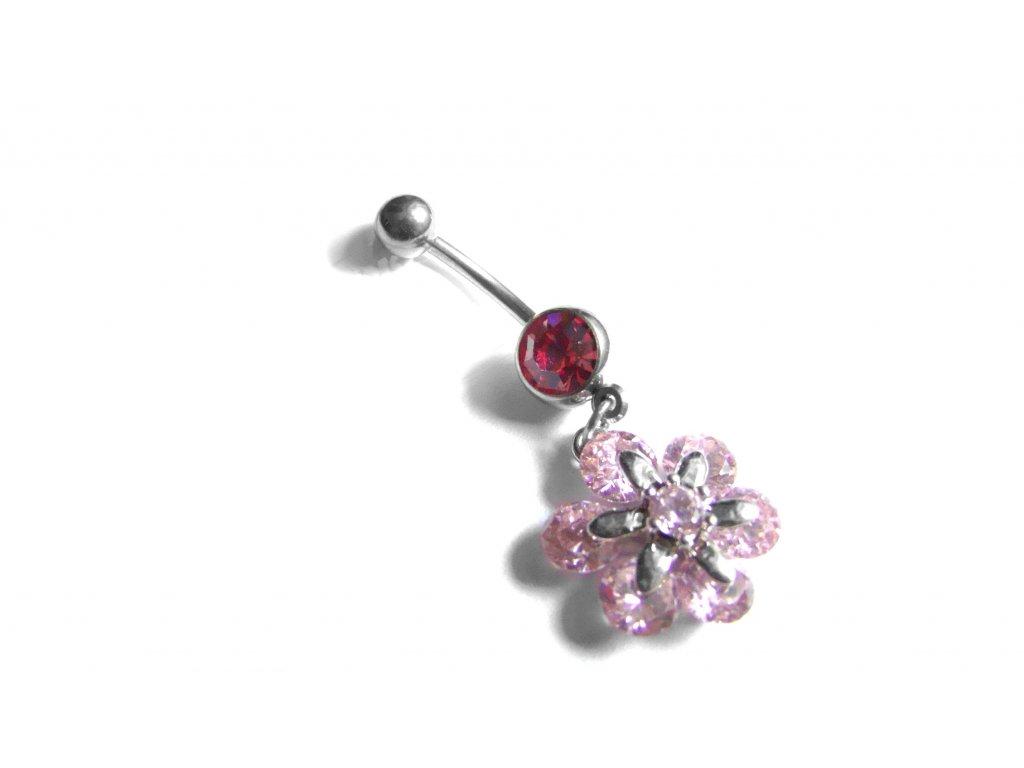 piercing - kytička - růžová - 200201