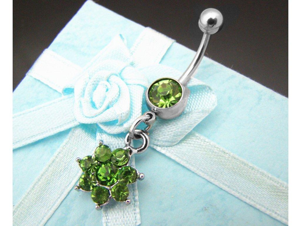 piercing - kytička - zelená - 130133