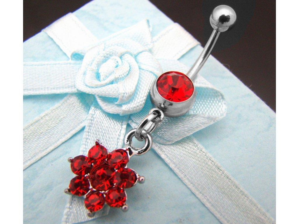 piercing - kytička - červená - 130134
