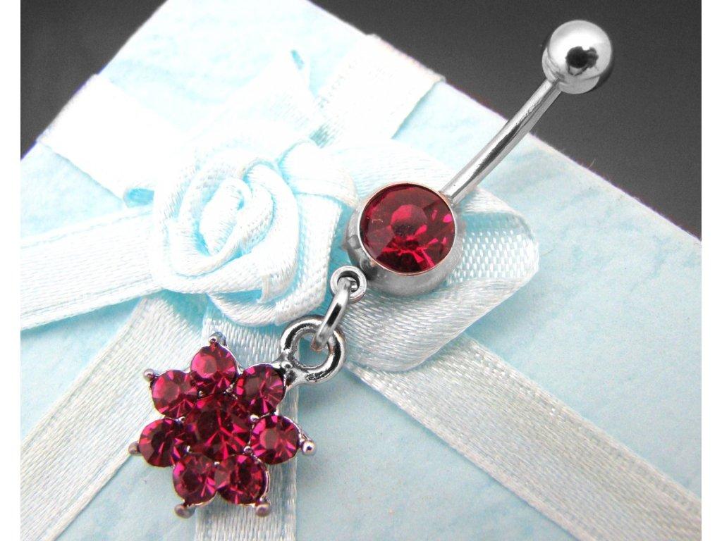 piercing - kytička - růžová - 130135