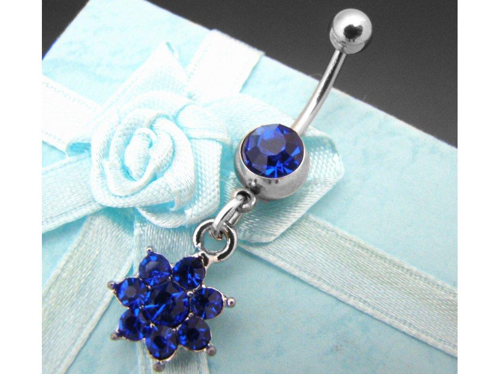 piercing - kytička - modrá - 130130