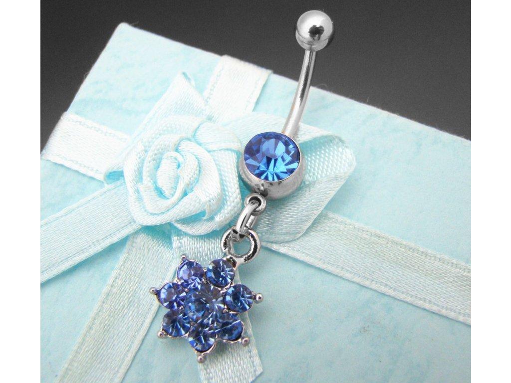piercing - kytička - modrá - 130131