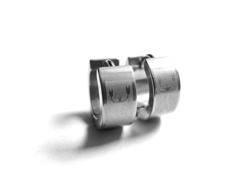 náušnice - chirurgická ocel - kroužky - štír - 121124
