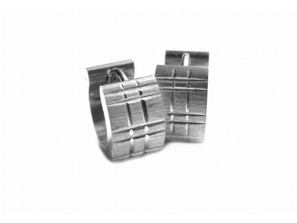 náušnice - chirurgická ocel - kroužky - 090363