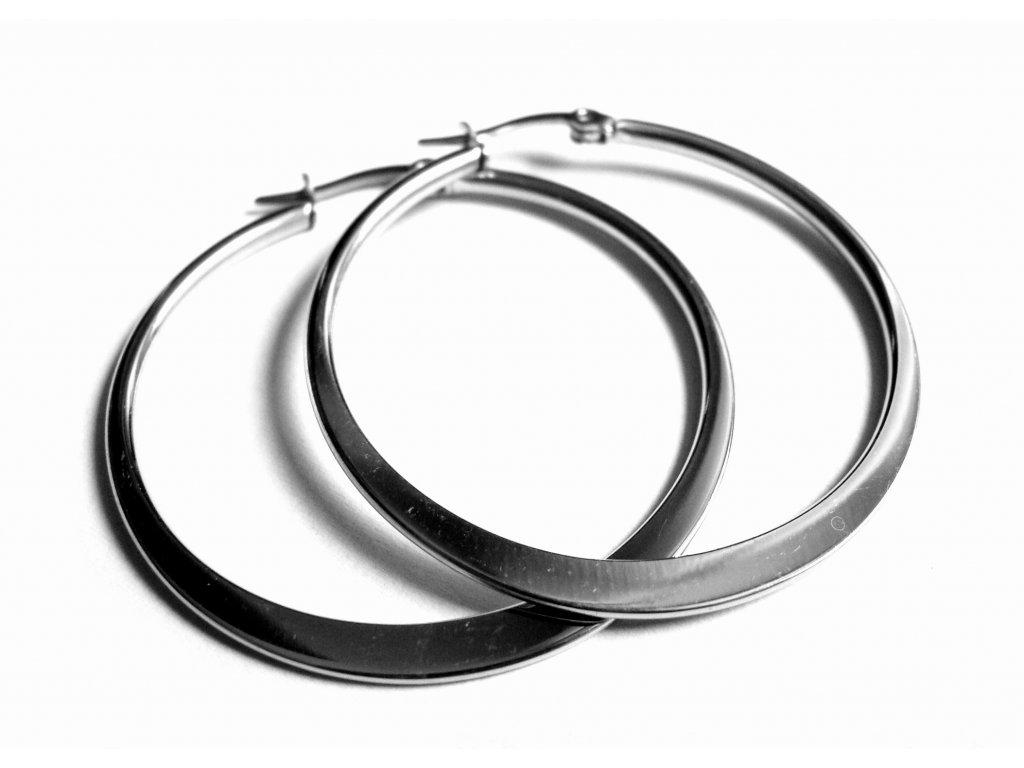 náušnice - chirurgická ocel - kruhy - 35 mm - 140121