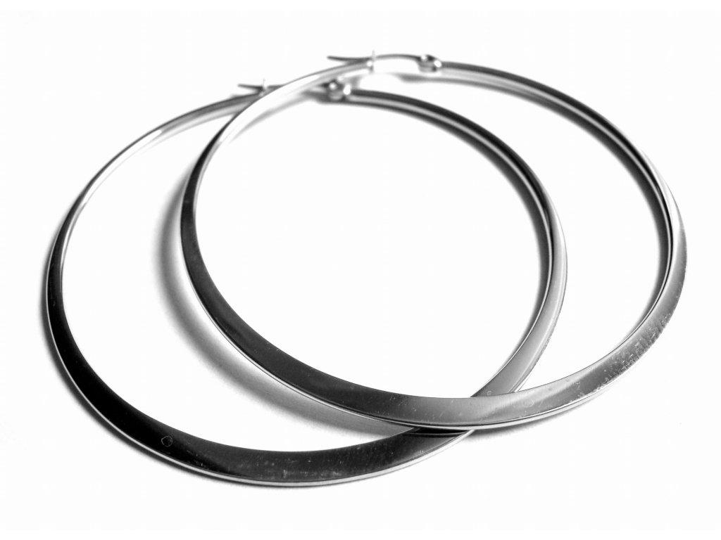 náušnice - chirurgická ocel - kruhy - 45 mm - 151017