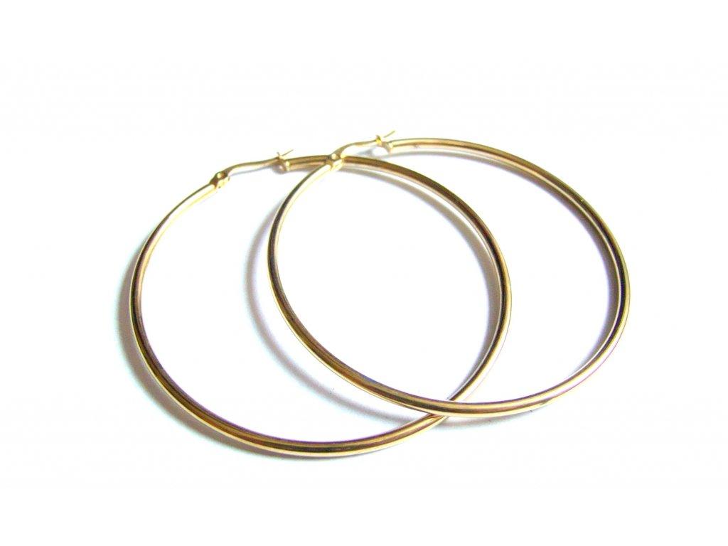 náušnice - chirurgická ocel - kruhy - 60 mm - 171104