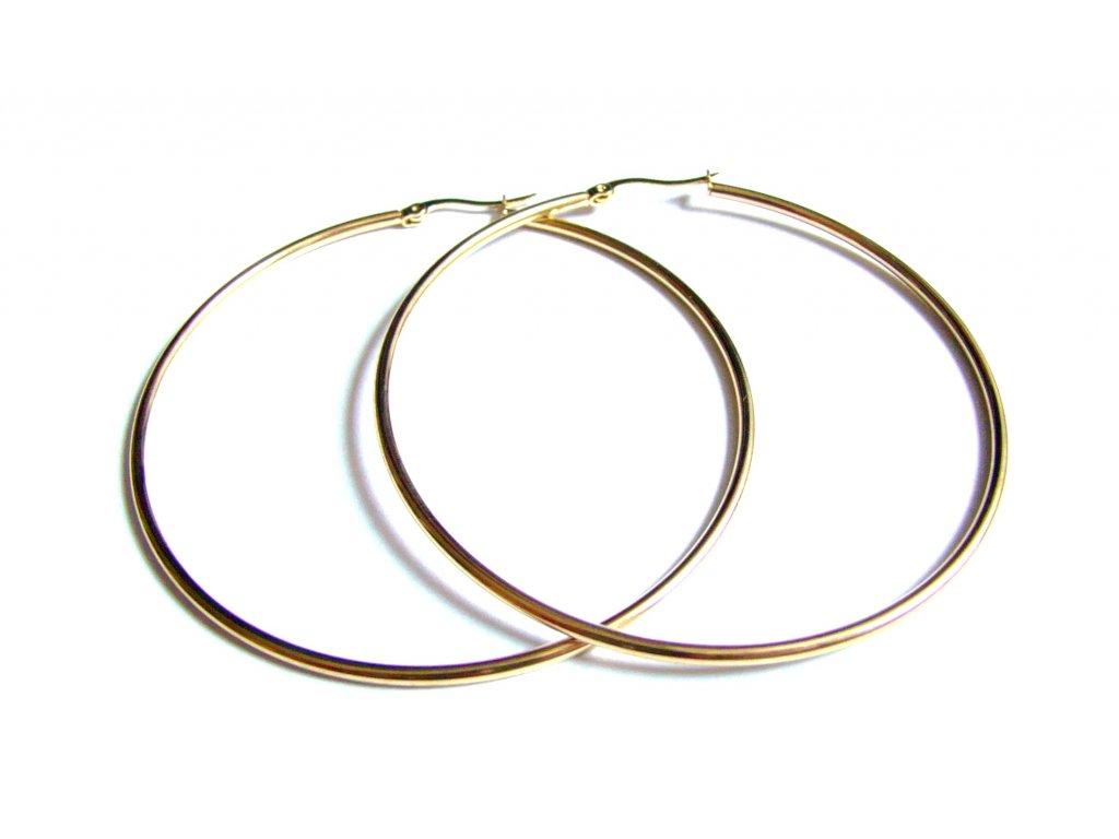 náušnice - chirurgická ocel - kruhy - 65 mm - 171105