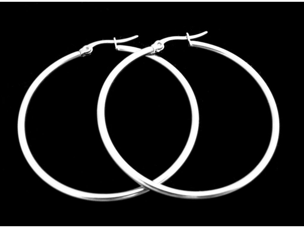 náušnice - chirurgická ocel - kruhy - 50 mm - 141119