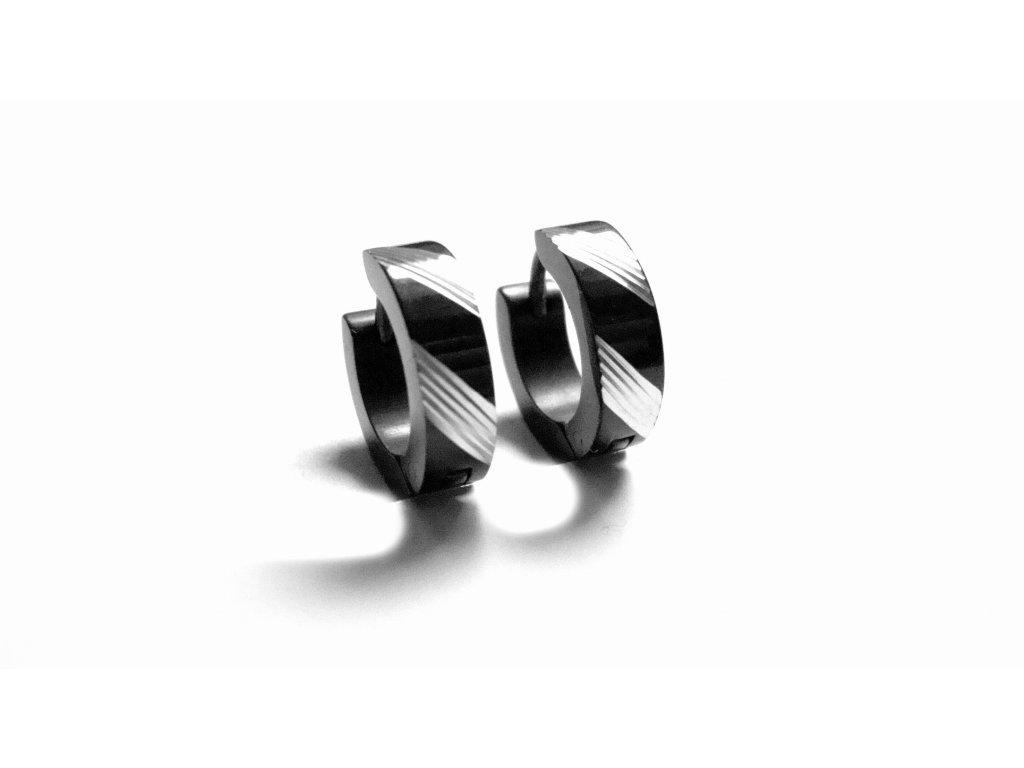 náušnice - chirurgická ocel - kroužky - 090347
