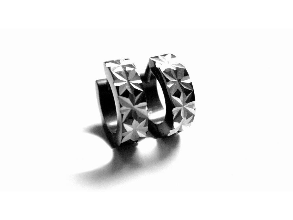 náušnice - chirurgická ocel - kroužky - 090348