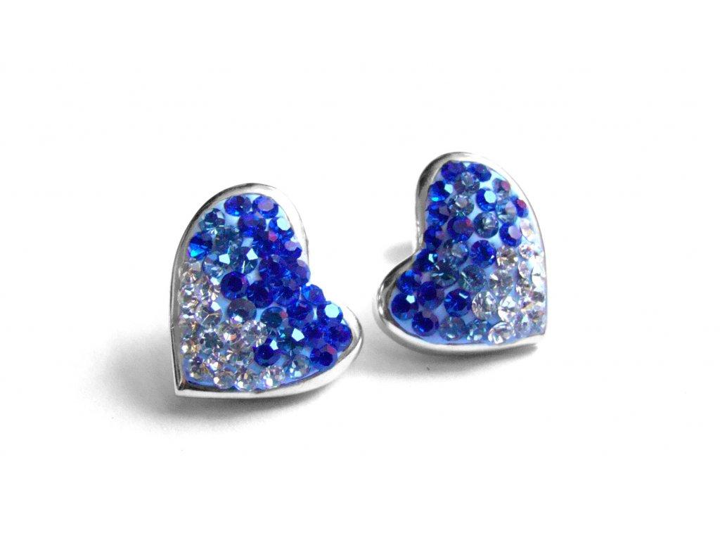 náušnice - chirurgická ocel - srdce - 090365