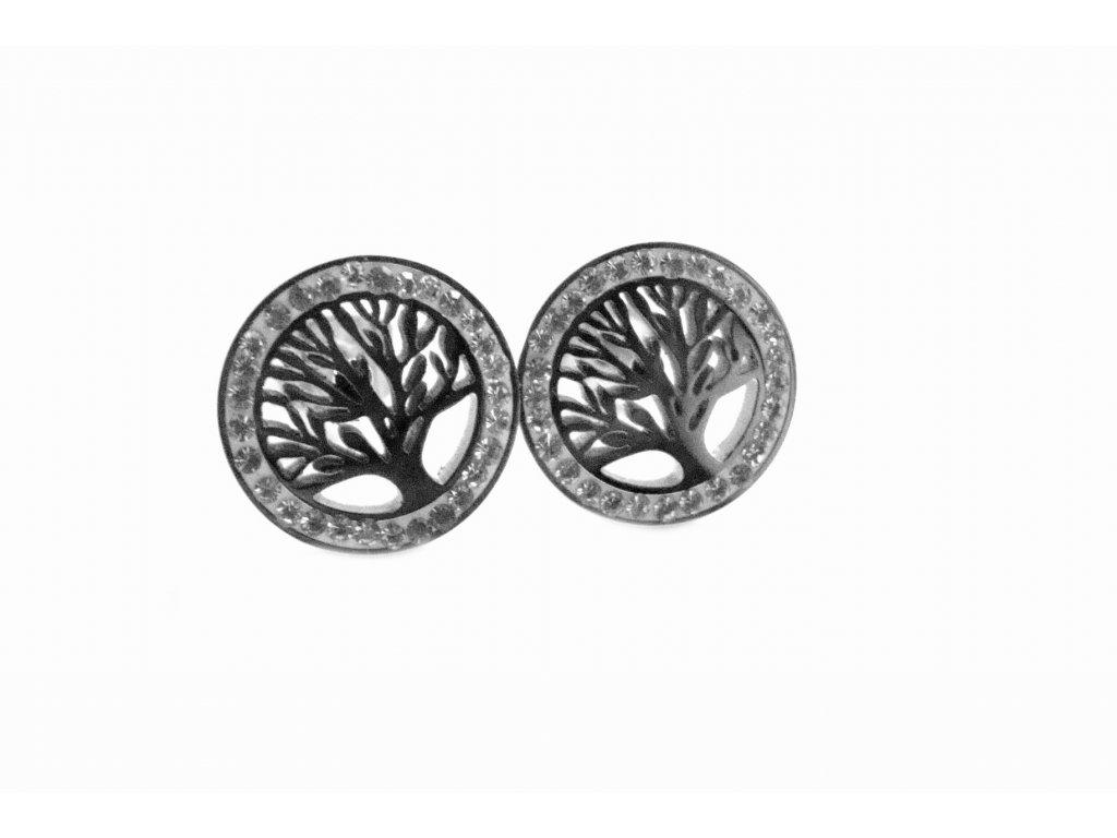 náušnice - chirurgická ocel - strom života - 090461