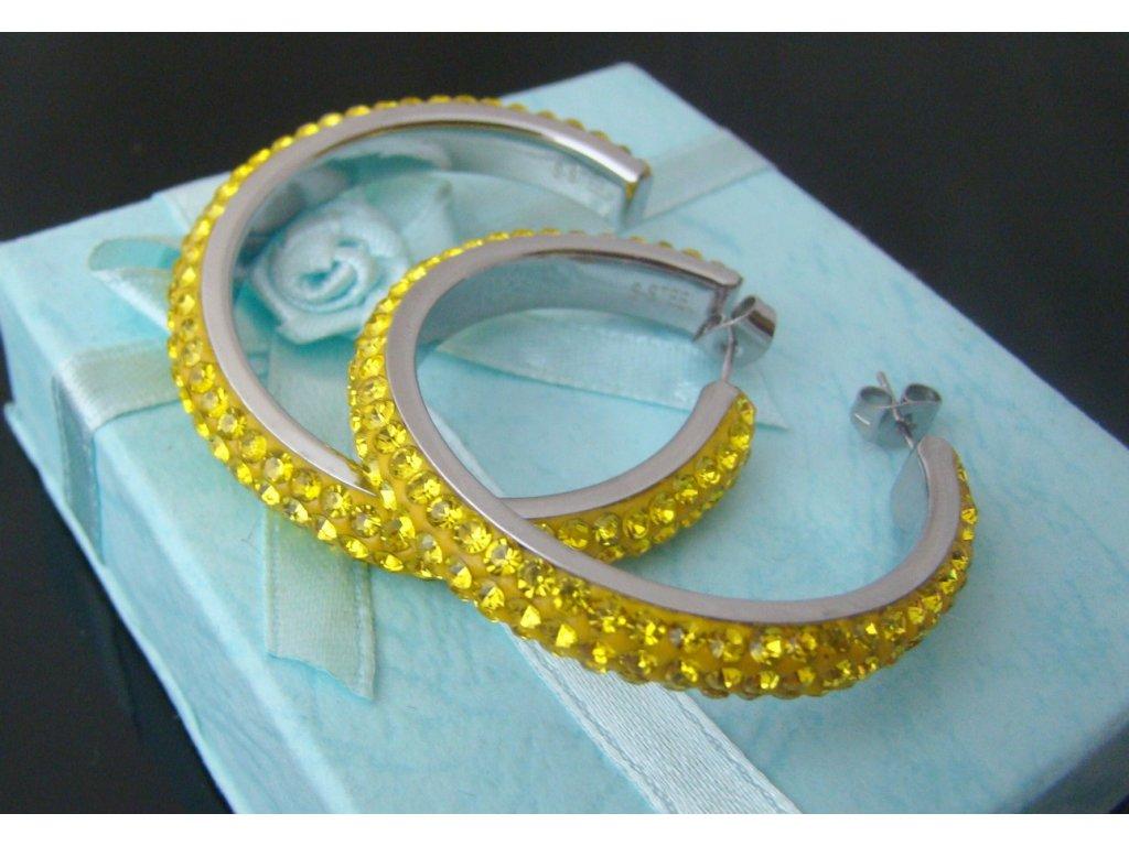 náušnice - chirurgická ocel - kruhy - 130109