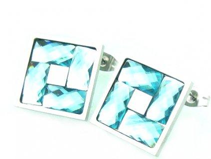3834.náušnice z chirurgické oceli chirurgická ocel modré