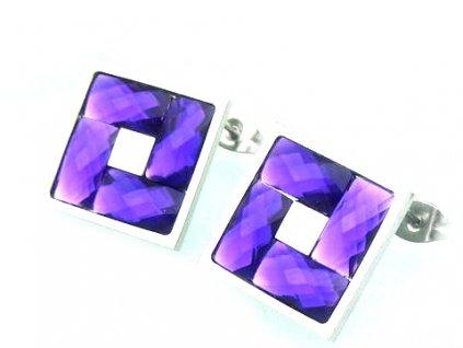 4529.náušnice z chirurgické oceli chirurgická ocel fialové