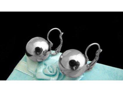 náušnice - chirurgická ocel - koule - 14 mm - 141124