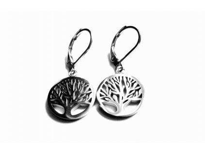 náušnice - chirurgická ocel - strom života - 080205