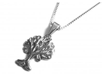 řetízek s přívěskem - chirurgická ocel - strom života - 090149