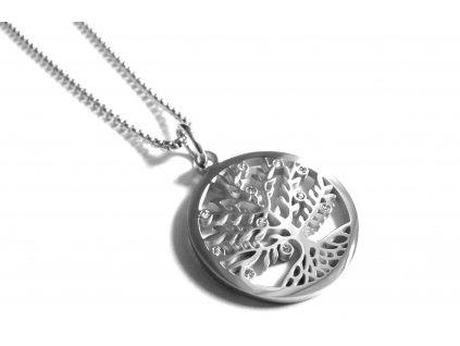 řetízek, náhrdelník - strom života - chirurgická ocel - 130195