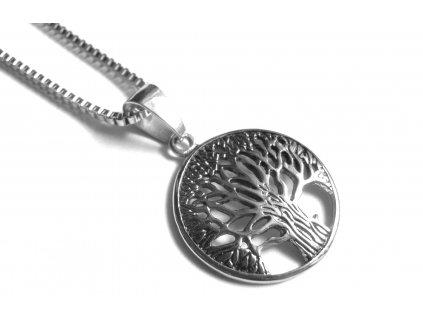 řetízek, přívěsek - chirurgická ocel - strom života - 121113