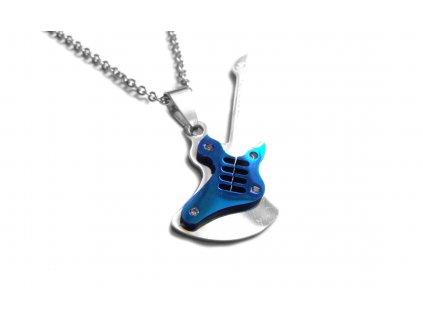 řetízek s přívěskem - kytara - chirurgická ocel - 090265