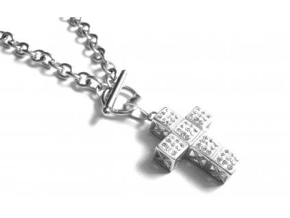 řetízek, náhrdelník - chirurgická ocel - kříž - 090369