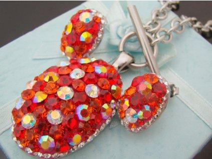 souprava - náhrdelník a náušnice - chirurgická ocel - dámský - 130182