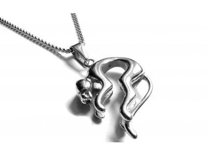 řetízek a přívěsek - chirurgická ocel - 140130