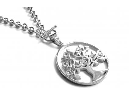náhrdelník - chirurgická ocel - dámský - strom života - 180312