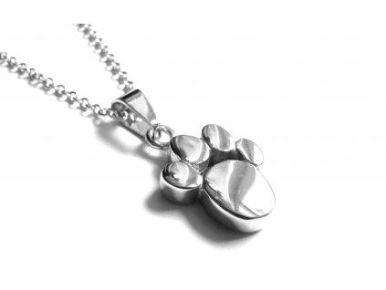 řetízek, náhrdelník - chirurgická ocel - psí tlapka - 171013
