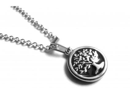 řetízek - chirurgická ocel - strom života - 090340