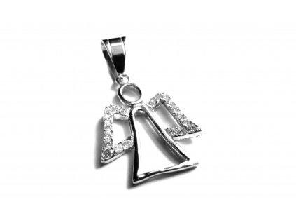 přívěsek - chirurgická ocel - anděl - 500442