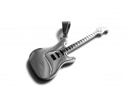 přívěsek - chirurgická ocel - kytara - 171015