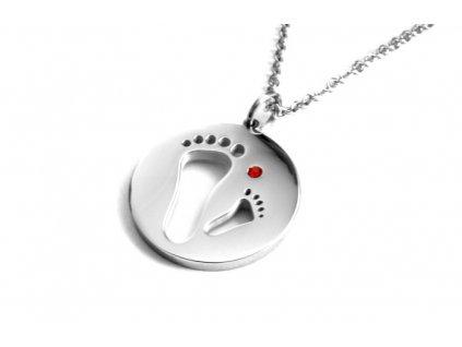 řetízek a přívěsek - náhrdelník - chirurgická ocel - 140921