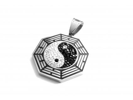řívěsek - chirurgická ocel - jing jang - 140929